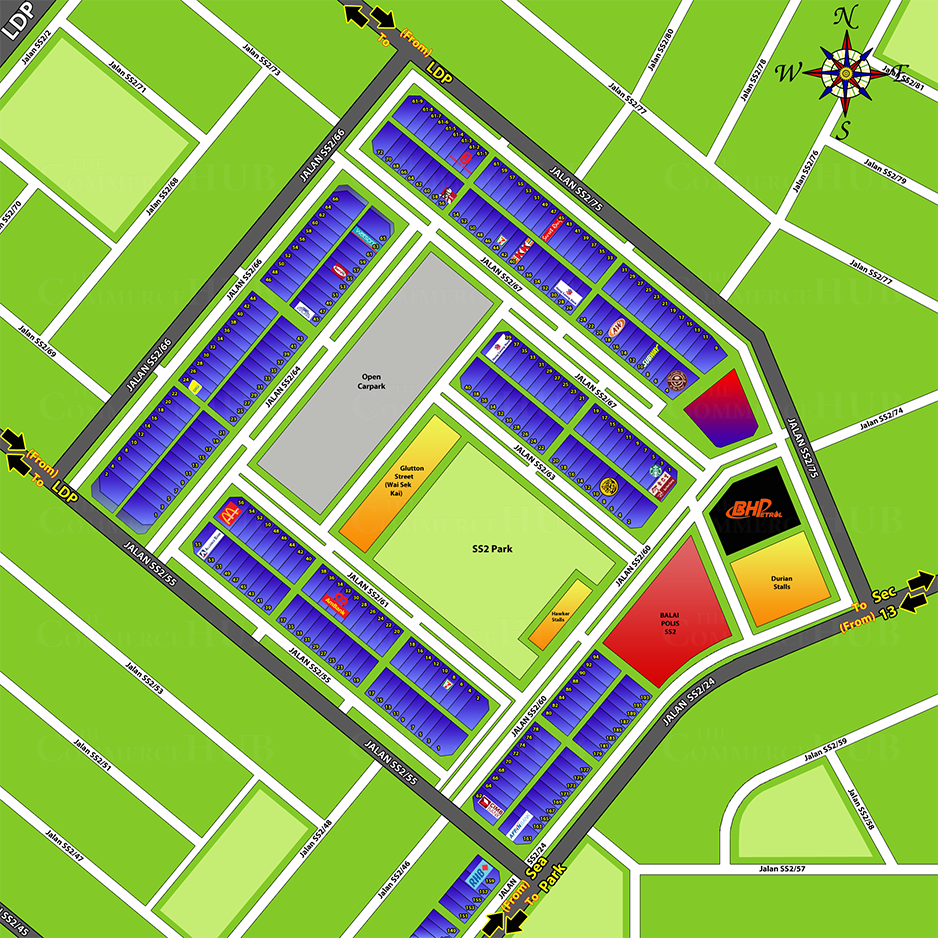 SS2 Commercial Center Map