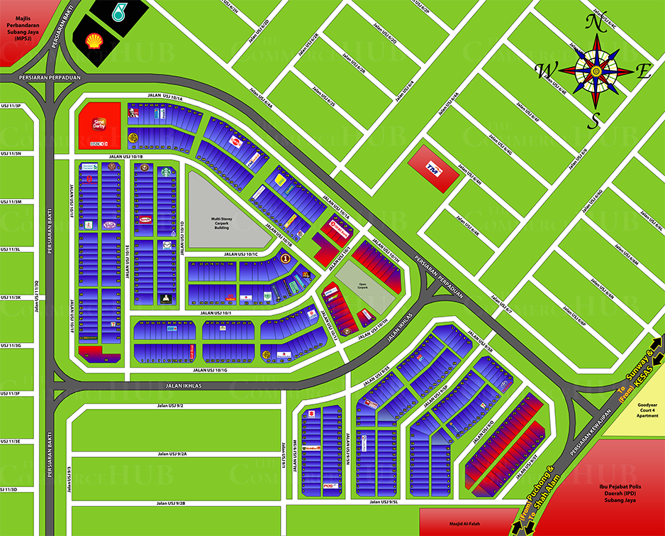 Taipan USJ 10 USJ 9 Subang Business Center Map